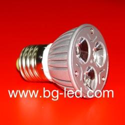 LED спот лампа E27-3X1W-WW