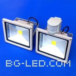 LED прожектор 20W + сензор за движение
